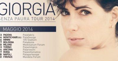 Domani Giorgia sarà a Padova con il suo Senza Paura Tour 2014