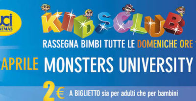 Domani all'UCI Cinemas per la rassegna bimbi Kids Club, Monsters University
