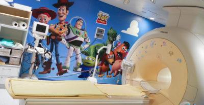 La sala di RM dell'Ospedale Gaslini di Genova è ora un mondo Disney Pixar