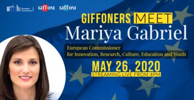 Da Giffoni all'Europa, 9 giffoners a confronto con il commissario europeo Mariya Gabriel per rinascere dalla cultura