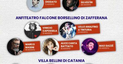 """Questa estate la musica dal vivo risuonerà """"Sotto il vulcano"""". Ecco i concerti a Catania, Zafferana e Taormina"""