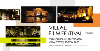 Villae Film Festival 2020, Villa Adriana e Villa d'Este, Tivoli (Rm) 16 – 27 settembre