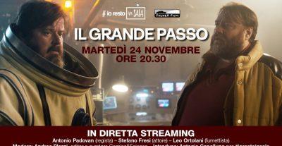 #iorestoinSALA: il 24 novembre Antonio Padovan, Stefano Fresi e Leo Ortolani presentano IL GRANDE PASSO.